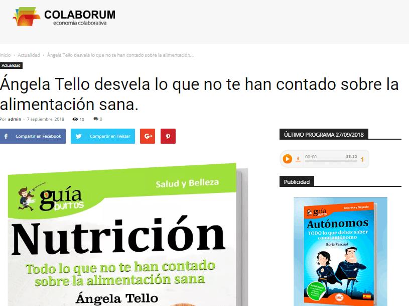 El GuíaBurros: Nutrición se hace eco en Colaborum.