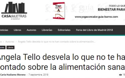 """Casa de Letras, medio especializado en obras de autor, escribe sobre """"GuíaBurros:  Nutrición"""""""