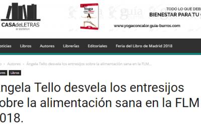 Ángela Tello habló con Casa de Letras durante la Feria del Libro de Madrid.